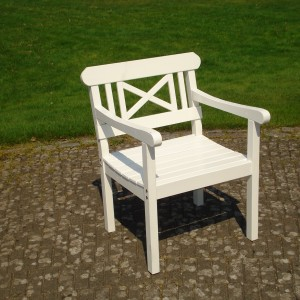 Furniture Groups Holmsund Armchair White Eden Wood