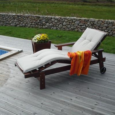 Relax Deck Lounge Chair Honig Eden Wood