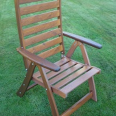 Furniture Anna Folding Armchair Honey Eden Wood