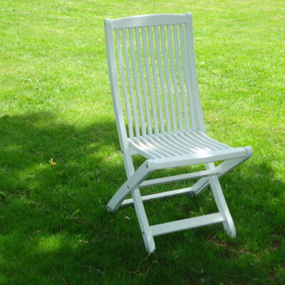 Café Klara Folding Chair White Eden Wood