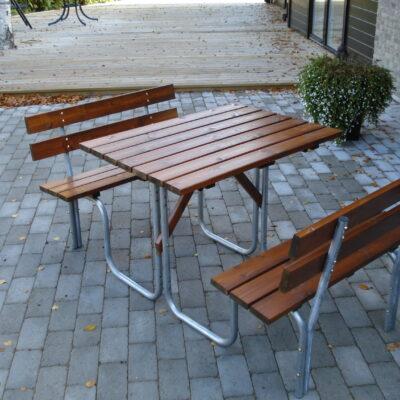 Picnic Tables Steel Picnic 100 Honey Eden Wood