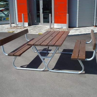 Picnic Tables Robust Picnic with Backrest Honey Eden Wood