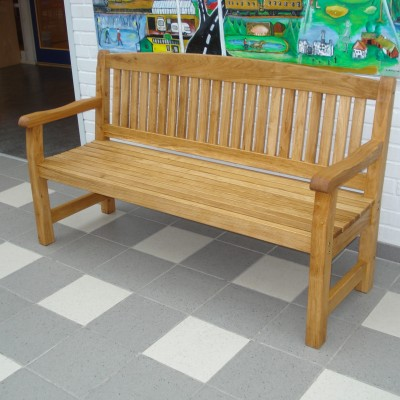 School/Corridor Furniture Kattvik 3 Seater Sofa in Oiled Oak Natural Eden Wood