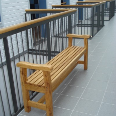School/Corridor Furniture Kattvik Bench in Oiled Oak Natural Eden Wood