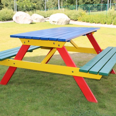 Picnic Tables School/Corridor Furniture Picnic 150 Playground Playful Colours Eden Wood 2