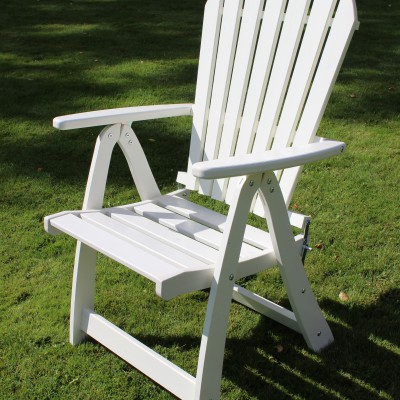 Furniture Groups Visby Folding Armchair White Eden Wood
