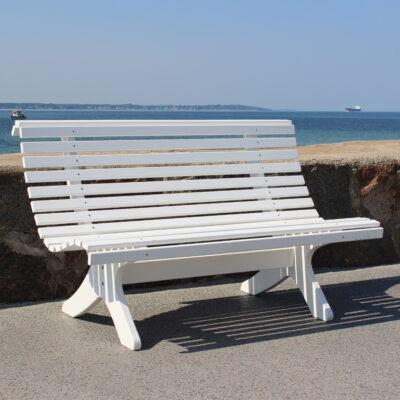 Relax Sofia 2 Seater Sofa White Eden Wood
