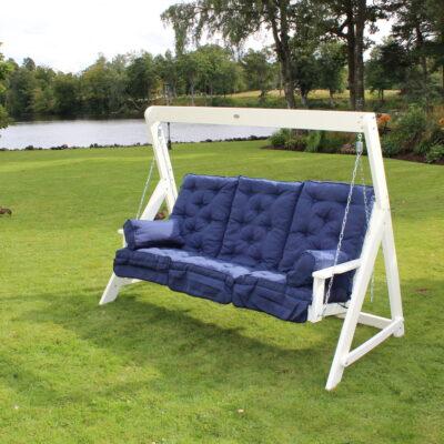 Relax Lisa 3 Seater Swing Hammock White Eden Wood