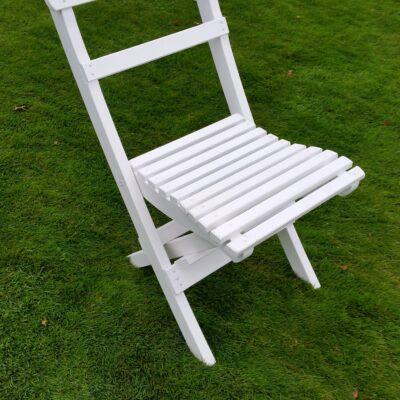 Café Torparen Folding Chair White Eden Wood