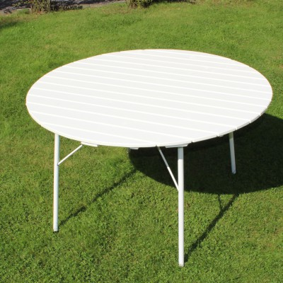 Café Wilma Table 100 cm Weiss Eden Wood